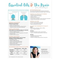 Essential Oils and The Brain For Children, 2 Page Foldout Guide (Pack of 10)