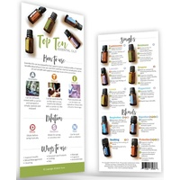 Bookmark, Top 10 Essential Oils Rack Card