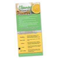 Bookmark, Cleaning with Essential Oils Rack Card
