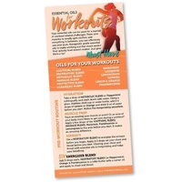 Bookmark, Essential Oils for Workout Rack Card