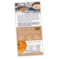 Bookmark, Essential Oils Coffee & Other Hot Drinks Rack Card