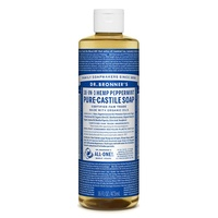 Dr. Bronner's Pure-Castile Liquid Soap - Peppermint, 473ml