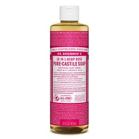 Dr. Bronner's Pure-Castile Liquid Soap - Rose, 473ml