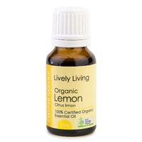 Lemon, 15ml, Certified Organic, 100% Pure Essential Oil, Lively Living