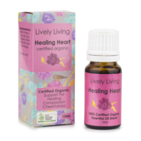 Healing Heart, 10ml, 100% Certified Organic Essential Oil Blend
