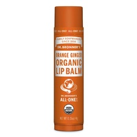Dr. Bronner's Organic Lip Balm - Orange Ginger, 4g