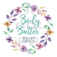 Label, Body Butter, Infused With Essential Oils, 78x78mm