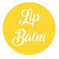 Label, Lipbalm, Yellow, 35x35mm