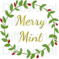 Label, Merry Mint, 40x40mm