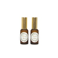 Kit, DIY Christmas Spritzer, 30ml Matte Amber, Gold Lid, With Label And Recipe Card, 2 Pack