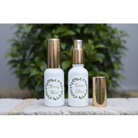 Kit, DIY Christmas Spritzer, 30ml White Bottle, Gold Lid, With Label And Recipe Card, 2 Pack