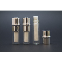 Replacement Glass Insert Vials For Nasal Inhalers, 3 Pack With Wicks