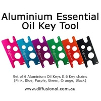 Aluminium Essential Oil Key Tool With Key Chains