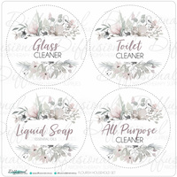 Flourish Household Set, 80x80mm, Premium Quality Vinyl