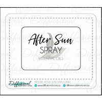 Nature After Sun Spray Label, 45x61mm, Premium Quality Vinyl