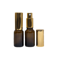 Bottle, Spray, Amber, 15ml, GOLD Aluminium Top
