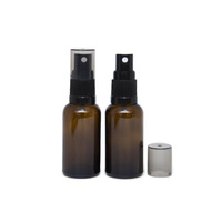 Bottle, Spray, Amber, 30ml, Black Plastic Top