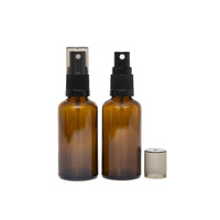 Bottle, Spray, Amber, 50ml, Black Plastic Top