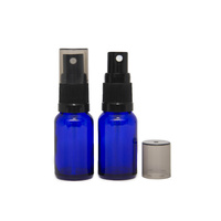 Bottle, Spray, Cobalt Blue, 15ml, Black Plastic Top