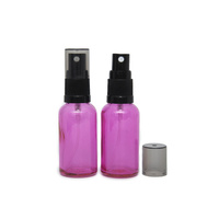 Bottle, Spray, Pink, 30ml, Black Plastic Top