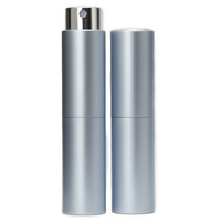 Perfume Atomizer, Blue, 8ml Twist Top Spray Bottle In Aluminium Cover