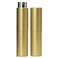 Perfume Atomizer, Gold, 8ml Twist Top Spray Bottle In Aluminium Cover