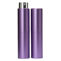 Perfume Atomizer, Purple, 8ml Twist Top Spray Bottle In Aluminium Cover