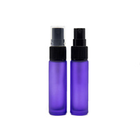 Bottle, Spray, 10ml, Purple, Black Plastic Top