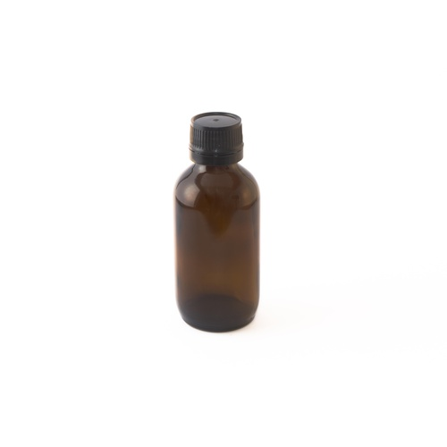 Bottle, Amber, 100ml With Cap