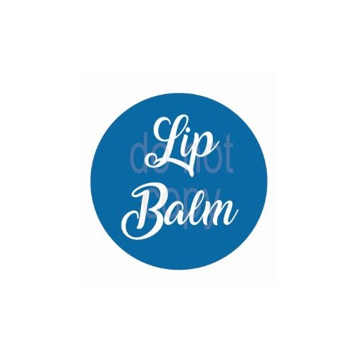 Label, Lipbalm, Blue, 35x35mm