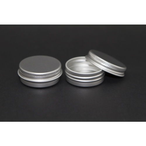 Tin, Lip balm Pot, 15g, Aluminium, Dia 40mm x Height 17mm