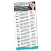 Bookmark, Essential Oils For Ailments A-Z Rack Card