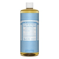 946ml, Dr. Bronner's Pure-Castile Liquid Soap - Baby Unscented