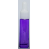 PURPLE - 10ml Single Colour Bottle with WHITE Dropper Top