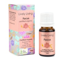 Focus, 10ml, 100% Certified Organic Essential Oil Blend,