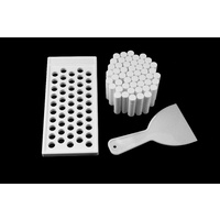 Lip Tube Tray KIT (White) - Includes 1 x Tray, 1 x Scraper, 50 x White Lip Balm Tubes