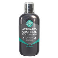 Mouthwash, Activated Charcoal, Spearmint, 500ml, Fuss Free Naturals