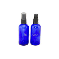 Bottle, Pump, Cobalt Blue, 100ml, Black Top