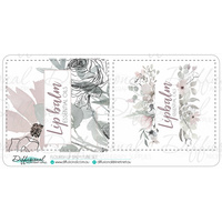 Flourish Lipbalm Tube Label Set, 50x45mm, Premium Quality Vinyl