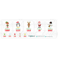 Kids Christmas Roller Label Set, 40x35mm Premium Quality Laminated Vinyl