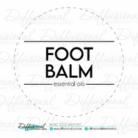 1 x Basic Foot Balm LG Label, 78x78mm, Essential Oil Resistant Laminated Vinyl