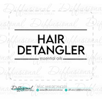 BULK - 50 x Basic Hair Detangler Label, 50x63mm, Essential Oil Resistant Laminated Vinyl **SAVE 20%**