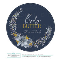 1 x Blue Winter Body Butter Label, 78x78mm, Premium Quality Vinyl