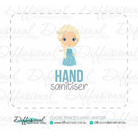 1 x Classic Princess Hand Sanitiser Label, 50x63mm, Premium Quality Vinyl