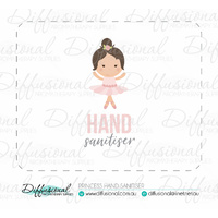 Princess Hand Sanitiser Label, 50x63mm, Premium Quality Vinyl