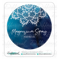 Mandala Magnesium Spray Label, 50x50mm, Premium Quality Vinyl