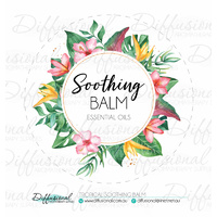 1 x Tropical Soothing Balm Label, 78x78mm, Essential Oil Resistant Laminated Vinyl