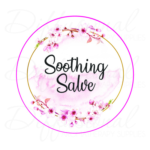 Label, Blossom, Soothing Salve, 78x78mm