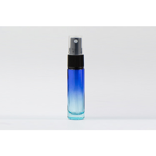 Bottle, Spray, 10ml, Ombre-Blue/Blue, Black Plastic Top