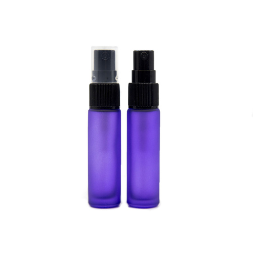 Bottle, Spray, 10ml, Frosted Purple, Black Plastic Top